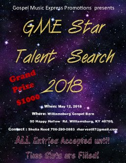 GME STAR TALENT SEARCH 2018
